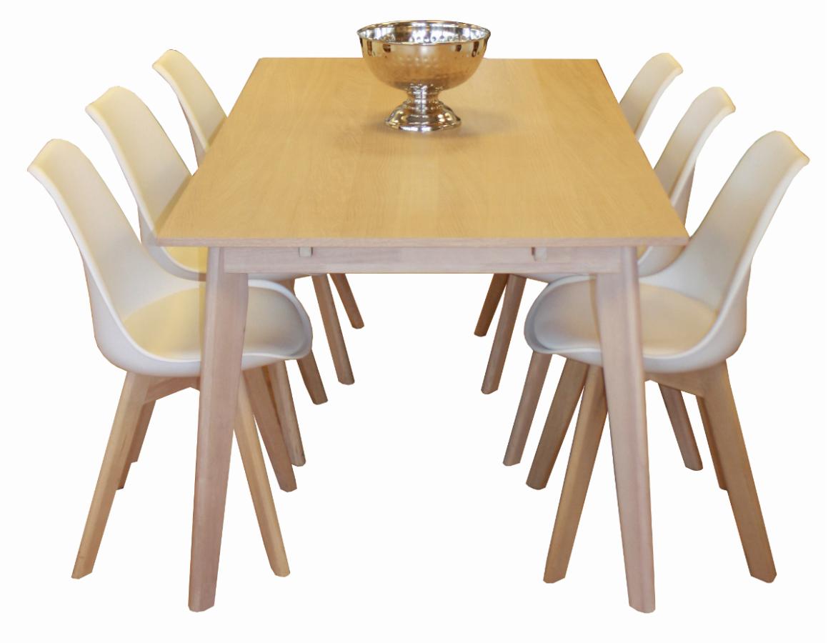 Bare ut Nordic spisebord med 6stk Tone stoler - Stilbo Møbler AS VE-64